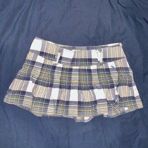 Abercrombie & Fitch Blue & Green Plaid Mini Skirt
